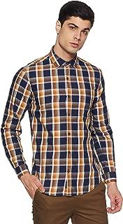 BUFFALO By FBB Men's Checkered Regular Fit Casual Shirt (1000857503_Brown_Medium)