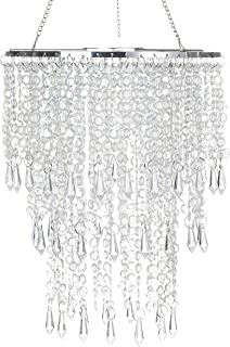 faux chandelier crystals