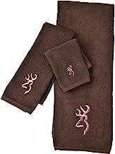 Buckmark Wash Cloth Color: Brown