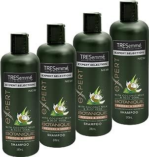 TRESemmé Expert Selection Botanique Shampoo Restore & Shine with Coconut Milk & Aloe Vera, 4 x 390ml