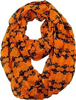 Halloween Theme Sheer Loop Infinity Scarf