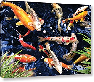 The Art Wall 24 by 32-Inch Koi Wrapped Canvas by George Zucconi