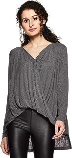 VERO MODA Women's Plain Regular Fit Synthetic Top