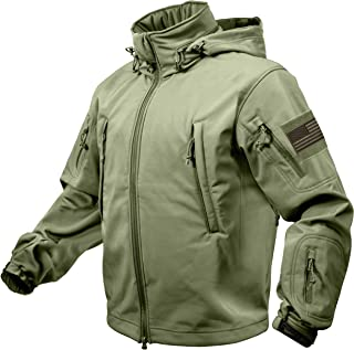 Rothco Special Ops Tactical Soft Shell Jacket with Patches Bundle - 3 Items