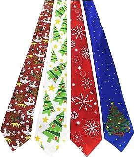JEMYGINS Original 4PCS One-off Christmas Tie Mens and boys Necktie for Festival