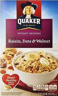 Quaker Instant Oatmeal, Raisin, Date & Walnut, 13 oz