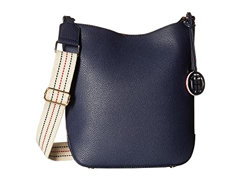 Tommy Hilfiger Th Web Small Hobo Crossbody In Navy Red  2db0c46001f