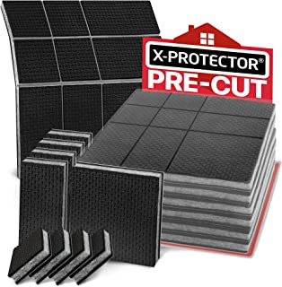 """Non Slip Furniture Pads X-PROTECTOR – Premium Pre-Cut 4 pcs 4"""" Furniture Pad! Best Furniture Grippers - SelfAdhesive Rubber Feet - Furniture Floor Protectors & Furniture Stoppers"""