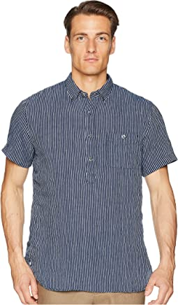 Short Sleeve Popover Stripe Shirt