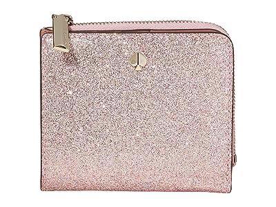 Kate Spade New York Burgess Court Small Bifold Wallet (Rose Gold) Wallet Handbags