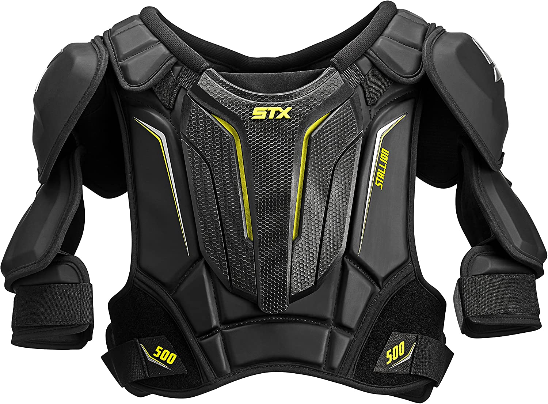 STX Stallion 500 Senior Ice Hockey Shoulder Pad, Black/Yellow, X-Large : Sports & Outdoors