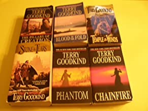 6 book set Terry Goodkind (Stone Tears, Temple of the Winds, The Pillars of Creation, Blood of the Fold, Chainfire, Phantom)
