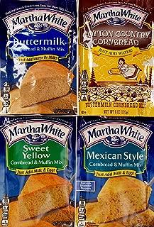 Martha White Cornbread & Muffin Mix Variety Sampler Pack 4 Mixes