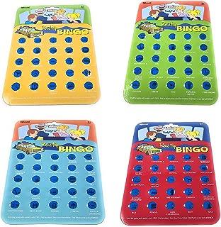(4 Pack) Bundle Savers! Road Trip Assorted Colored Bingo Card Set