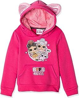 Sequins Rainbowdash Characters Hooded Jumper Sweatshirt with Ears Pinkie Pie My Little Pony Girls Official Fleece Hoodie 2-8 Years