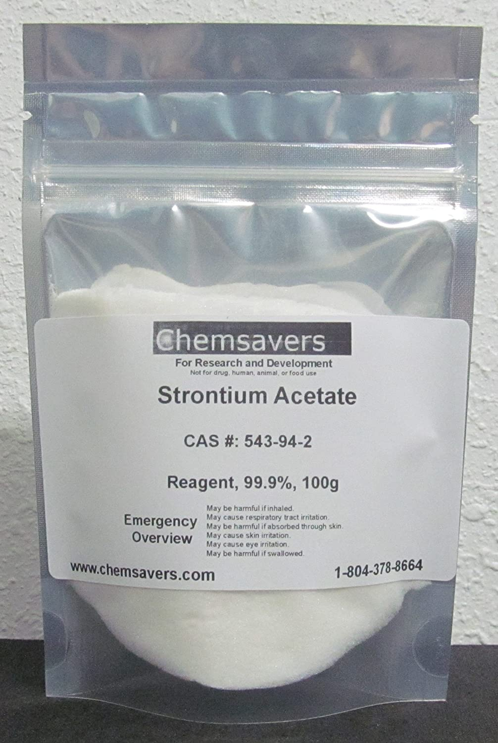 Strontium 5 ☆ very popular Acetate Reagent NEW before selling ☆ 100g 99.9% Certified
