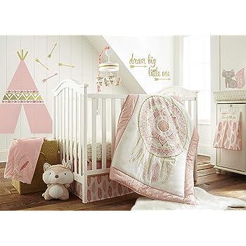 Feather Baby Girls 11 Piece Crib Bedding Set Without Bumper Sweet Jojo Designs B01N7Z0EVC