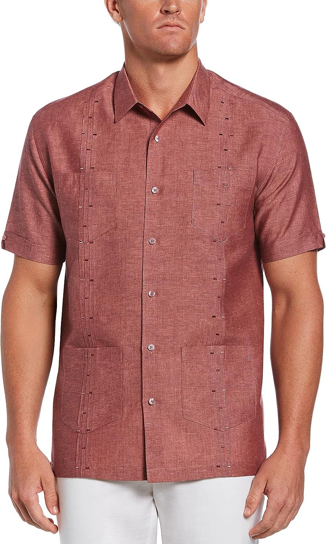 Cubavera Men's Short Sleeve L/C 4 Pckt Fashion Guayabera Shirt