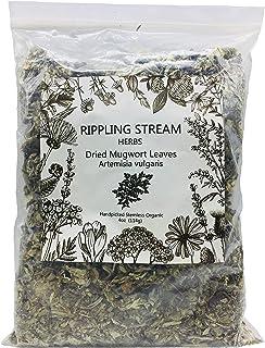 Ripple Stream Mugwort herb Pure Leaves Fine Picked Bulk Nil Stem, Stalk, Organic Artemisia vulgaris Chemical Free - 4 ounce (Organic)