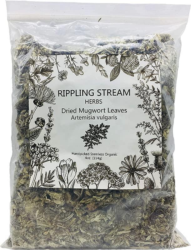 Ripple Stream Mugwort Herb Pure Leaves Fine Picked Bulk Nil Stem Stalk Organic Artemisia Vulgaris Chemical Free 4 Ounce Organic