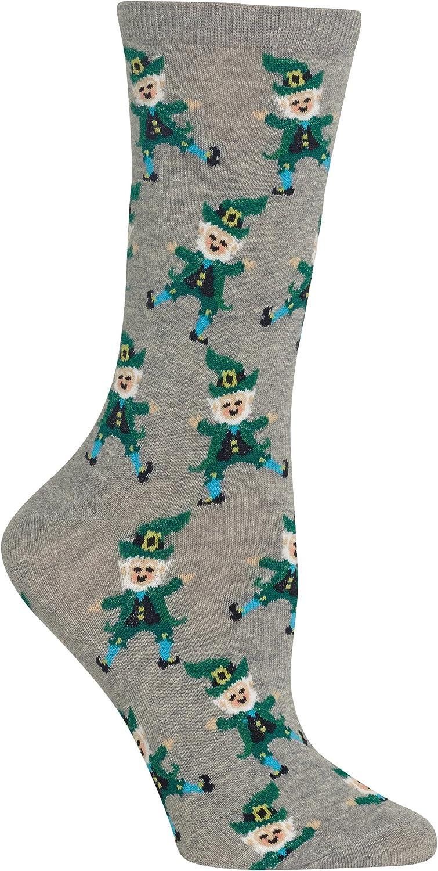 Hot Sox Womens Dancing Leprechaun Crew Socks
