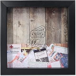 Lawrence Frames Black 10x10 Shadow Box Ticket Holder