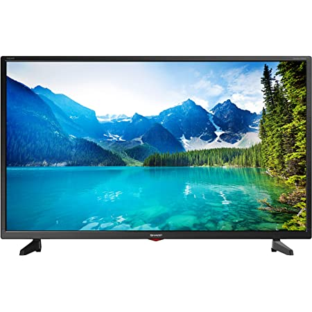 Sharp 1T C32BB3IE1NB 32 Inch TV, HD Ready LED Display with Harman/Kardon Speakers, Dolby Digital Audio Decoder, 3 x HDMI Ports, 2 x USB Ports, Scart Socket and Freeview HD - Black