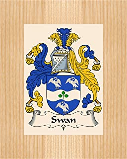 Carpe Diem Designs Swan Coat of Arms/Swan Family Crest 8X10 Photo Plaque, Personalized Gift, Wedding Gift