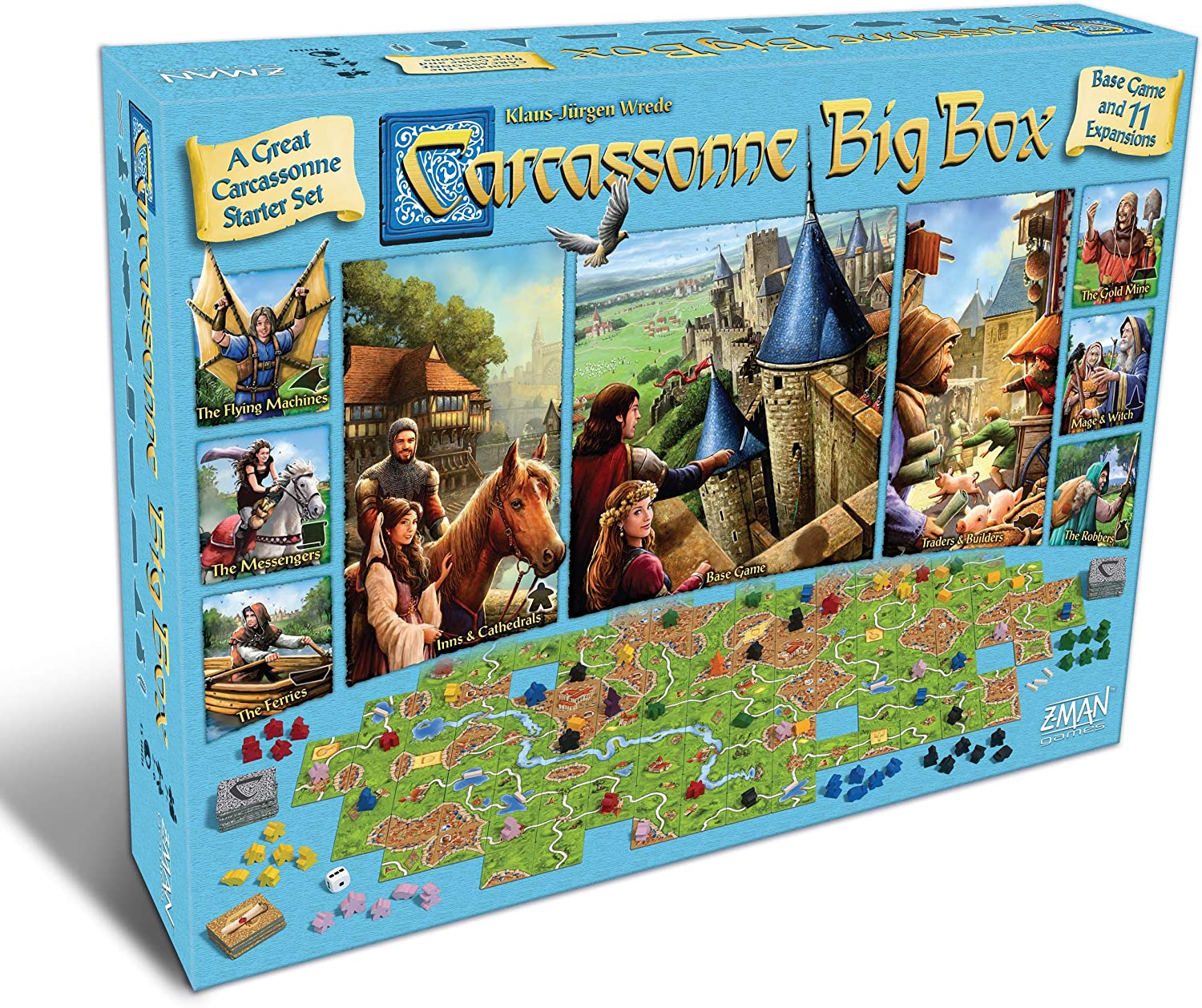 Carcassonne Board Game Big Box Fam GAME BASE Cheap mail order shopping 11 Max 61% OFF EXPANSIONS