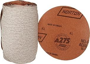 Norton A275 No-Fil Adalox Paper Abrasive Disc, Fiber Backing, Pressure-Sensitive Adhesive, Aluminium Oxide, 6