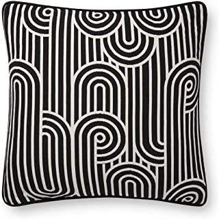 Now House by Jonathan Adler Deco Jacquard Pillow, Black and White
