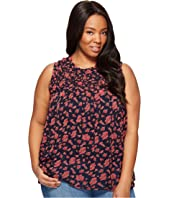Lucky Brand - Plus Size Rouched Yoke Tank Top