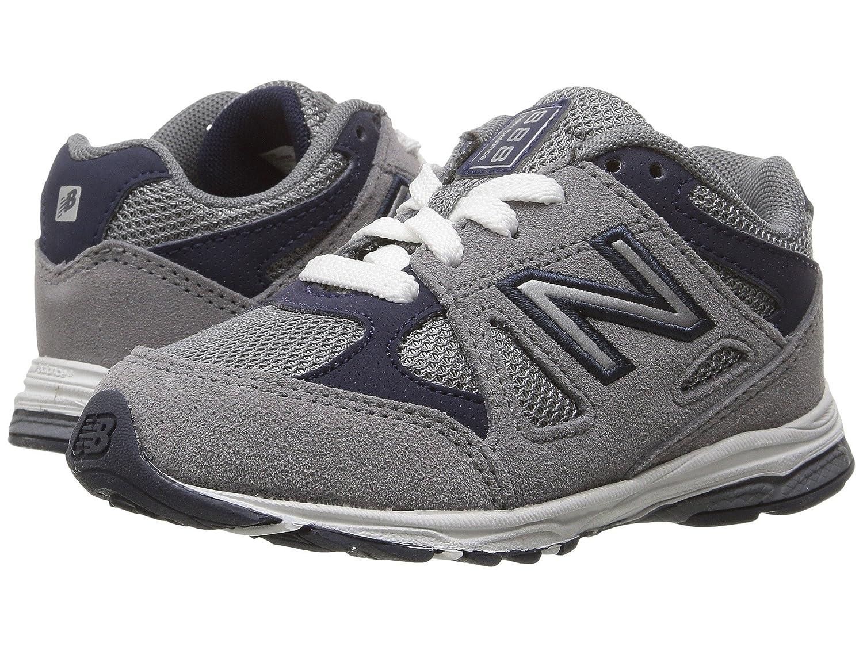 (ニューバランス) New Balance メンズランニングシューズ?スニーカー?靴 KJ888v1 (Infant/Toddler) Grey/Navy グレー/ネイビー 9.5 Toddler (16.5cm) W