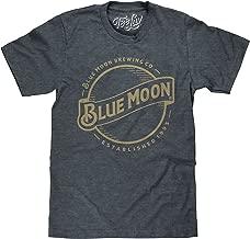 Tee Luv Blue Moon Beer T-Shirt - Blue Moon Brewing Company Gold Logo Shirt
