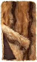 Fabulous Furs: Faux Fur Luxury Throw Blanket, Red Fox, Available in generous sizes 60
