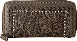 American West - Trinity Trail Zip-Around Wallet