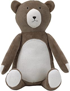 Dwell Studio Bear Hugs Super Soft Plush, Brown/Ivory Bear