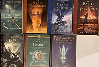 Ultimate Percy Jackson and the Olympians Series by Rick Riordan Set of 7 Books