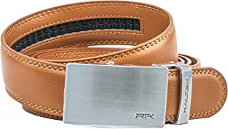 Ratchet Click Belts for Men | Mens Comfort Genuine Leather Belt with Automatic Buckle & Gift Box
