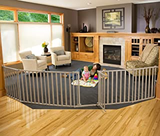 North States 3-in-1 Extra Wide Wood Superyard - 151