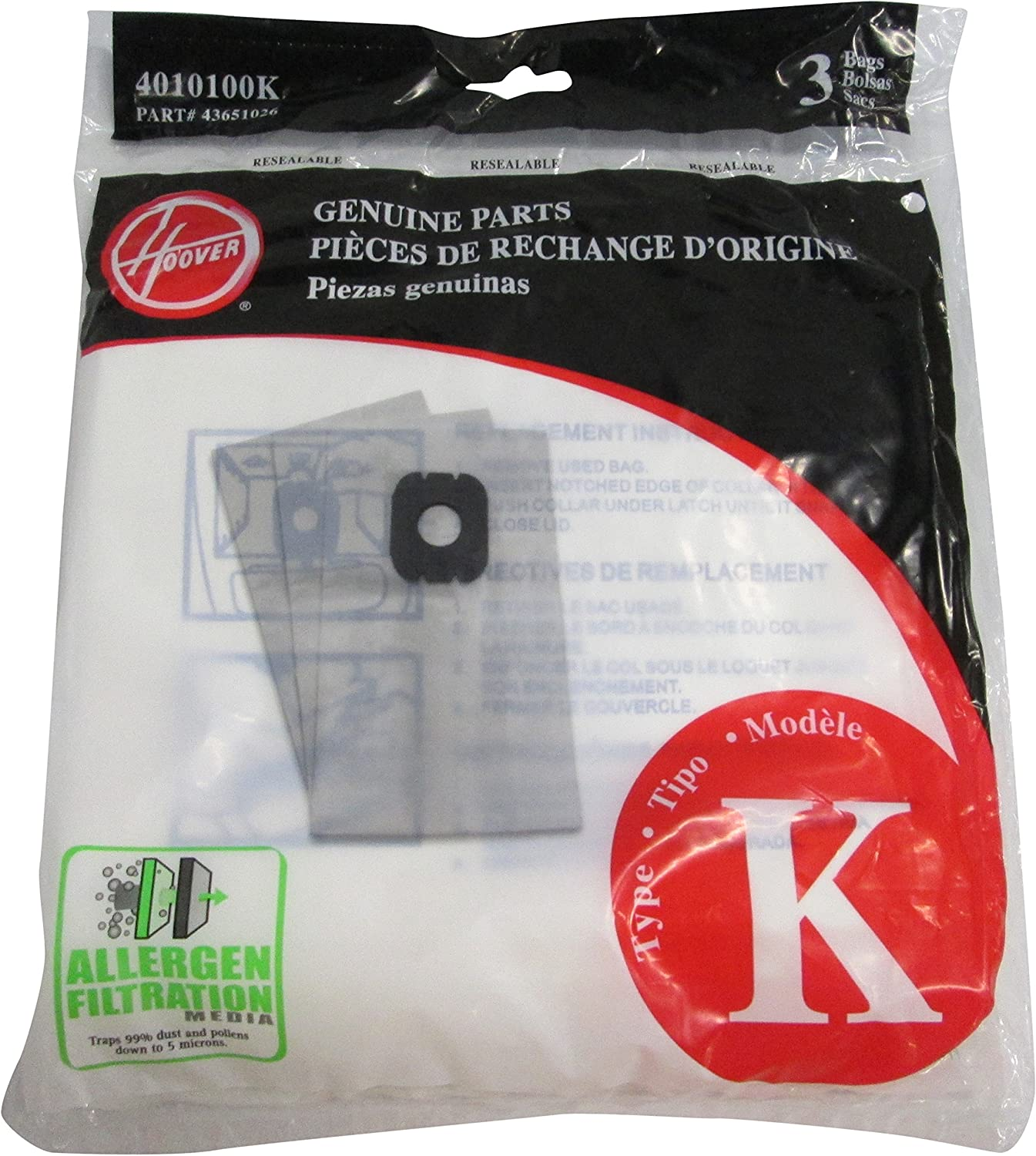 Hoover Store 3 Pack Style K Allergen Vacuum Cheap SALE Start Filtration Bags