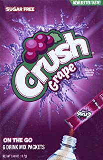 Crush Singles To Go Powder Packets, Water Drink Mix, Grape, Non-Carbonated, Sugar Free Sticks (72 Total Servings) - ORIGIN...