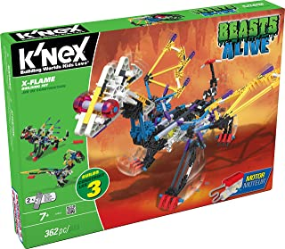 K'NEX Beasts Alive - X-Flame Building Set with Motorized Movement and Builds 3 Designs - 362 Pieces - 1 Pack