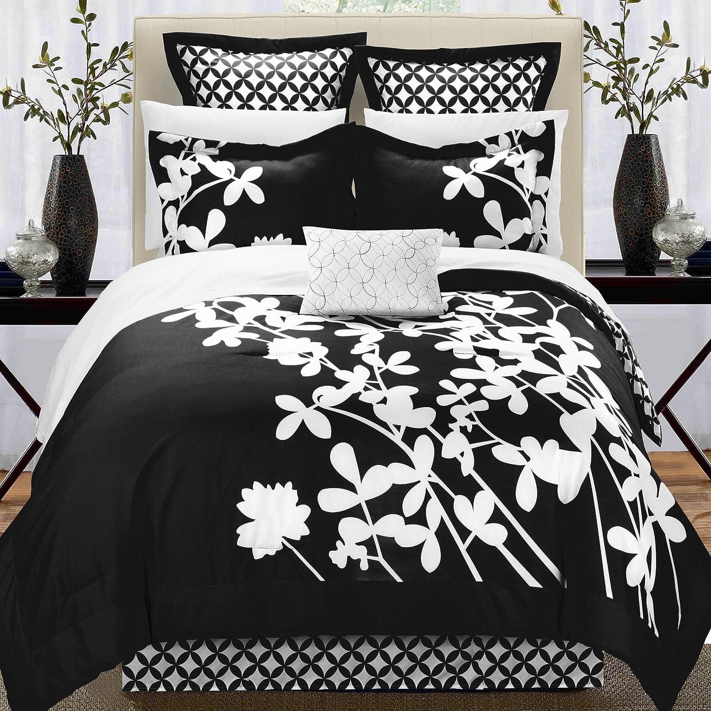 Chic Home Iris Queen 11 Piece Comforter Bed In A Bag Set Microfiber