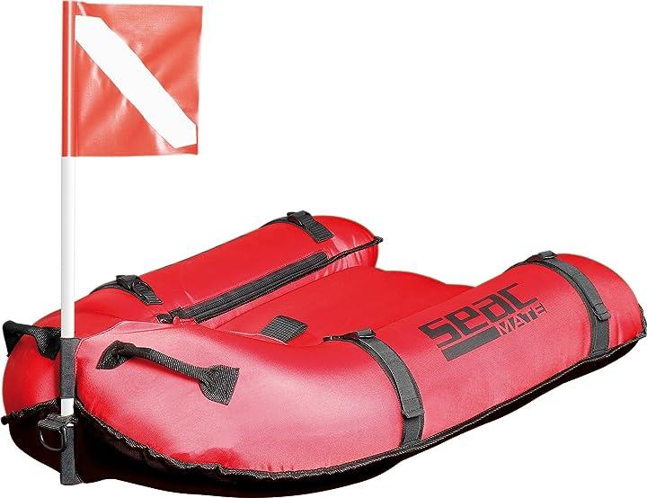 Plancetta gonfiabile per sub con bandiera di segnalazione per pesca sub in apnea 37001