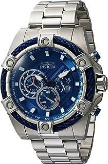 Invicta 25513 - Reloj de cuarzo para hombre con tornillo y correa de acero inoxidable, plateado, 26