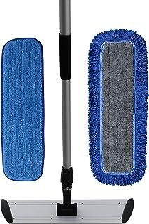 "24"" Professional Microfiber Floor Cleaning Kit | Superior Microfiber Mop Pads | Microfiber Mop Handle & Frame Set (24"")"