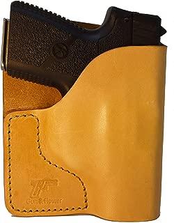Garrison Grip Tan Italian Leather Pocket Holster for Kahr PM9 and Similar Guns