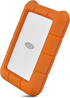 LaCie Rugged Thunderbolt USB-C 4TB External Hard Drive Portable HDD – USB 3.0 compatible, Drop Shock Dust Water Resistant, Mac and PC Computer Desktop Workstation Laptop, 1 Mo Adobe CC (STFS4000800)
