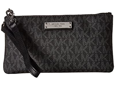 MICHAEL Michael Kors Wristlets Medium Wristlet (Black) Handbags